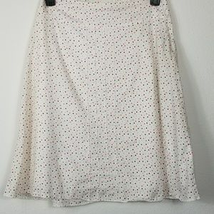 Final Touch pleated multi colored polka dot skirt